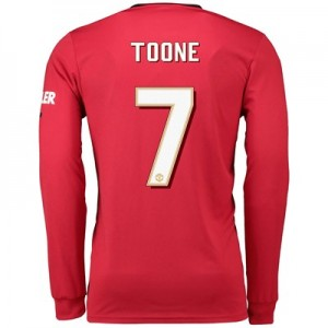 Manchester United Cup Home Shirt 2019 - 20 - Long Sleeve with Toone 7 printing