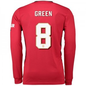 Manchester United Cup Home Shirt 2019 - 20 - Long Sleeve with Green 8 printing