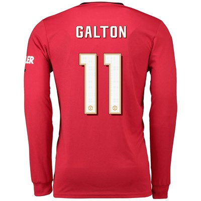 Manchester United Cup Home Shirt 2019 - 20 - Long Sleeve with Galton 11 printing