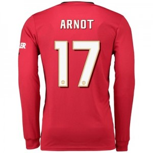 Manchester United Cup Home Shirt 2019 - 20 - Long Sleeve with Arnot 17 printing