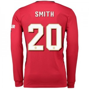 Manchester United Cup Home Shirt 2019 - 20 - Long Sleeve with Smith 20 printing