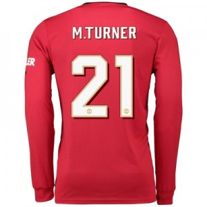 Manchester United Cup Home Shirt 2019 - 20 - Long Sleeve with M.Turner 21 printing