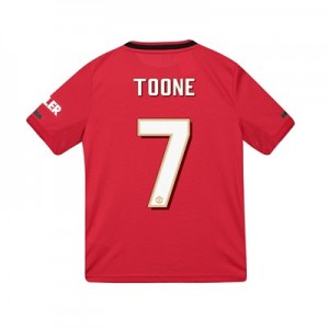 Manchester United Cup Home Shirt 2019 - 20 - Kids with Toone 7 printing