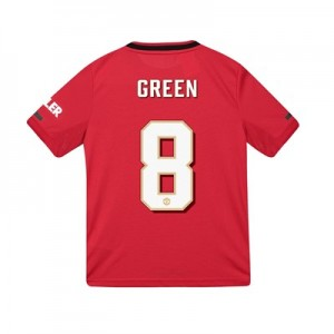 Manchester United Cup Home Shirt 2019 - 20 - Kids with Green 8 printing