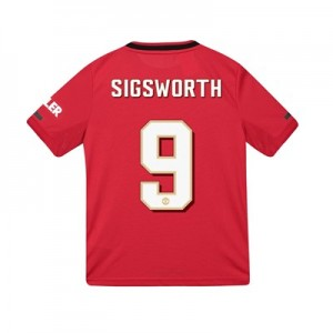 Manchester United Cup Home Shirt 2019 - 20 - Kids with Sigsworth 9 printing