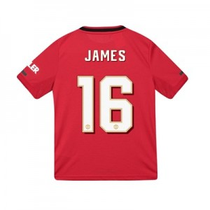 Manchester United Cup Home Shirt 2019 - 20 - Kids with James 16 printing