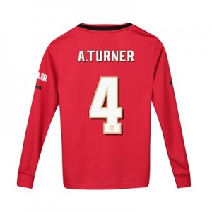 Manchester United Cup Home Shirt 2019 - 20 - Kids - Long Sleeve with A.Turner 4 printing