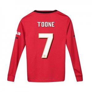 Manchester United Cup Home Shirt 2019 - 20 - Kids - Long Sleeve with Toone 7 printing