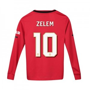 Manchester United Cup Home Shirt 2019 - 20 - Kids - Long Sleeve with Zelem 10 printing