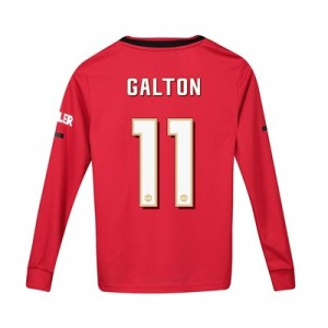 Manchester United Cup Home Shirt 2019 - 20 - Kids - Long Sleeve with Galton 11 printing