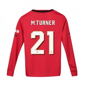 Manchester United Cup Home Shirt 2019 - 20 - Kids - Long Sleeve with M.Turner 21 printing