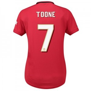 Manchester United Home Cup Shirt 2019 - 20 - Womens with Toone 7 printing