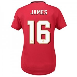 Manchester United Home Cup Shirt 2019 - 20 - Womens with James 16 printing