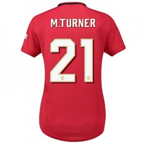 Manchester United Home Cup Shirt 2019 - 20 - Womens with M.Turner 21 printing