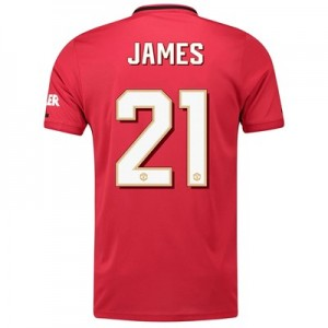 Manchester United Home Cup Shirt 2019 - 20 with James 21 printing