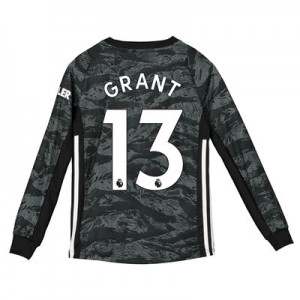 Manchester United Away Goalkeeper Shirt 2019 - 20 - Kids with Grant  13 printing
