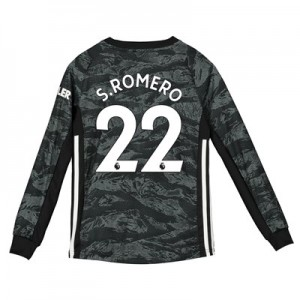 Manchester United Away Goalkeeper Shirt 2019 - 20 - Kids with S.Romero 22 printing
