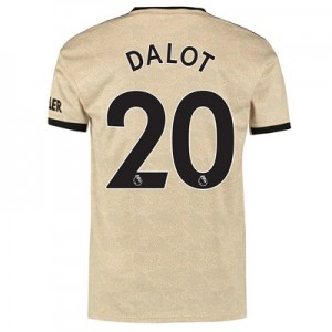 Manchester United Away Shirt 2019 - 20 with Dalot 20 printing