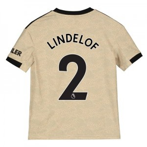 Manchester United Away Shirt 2019 - 20 - Kids with Lindelof 2 printing
