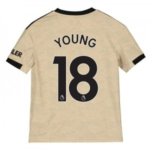 Manchester United Away Shirt 2019 - 20 - Kids with Young 18 printing