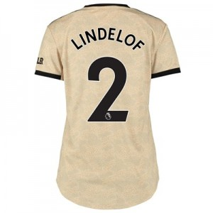 Manchester United Away Shirt 2019 - 20 - Womens with Lindelof 2 printing