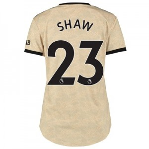 Manchester United Away Shirt 2019 - 20 - Womens with Shaw 23 printing