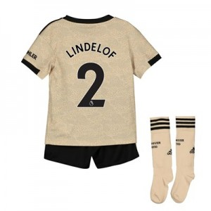 Manchester United Away Mini Kit 2019 - 20 with Lindelof 2 printing