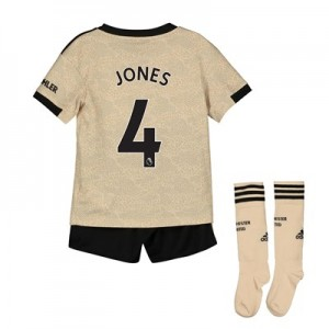 Manchester United Away Mini Kit 2019 - 20 with Jones 4 printing