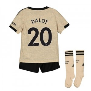 Manchester United Away Mini Kit 2019 - 20 with Dalot 20 printing