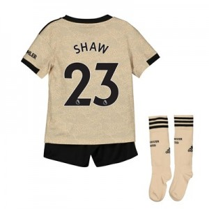 Manchester United Away Mini Kit 2019 - 20 with Shaw 23 printing