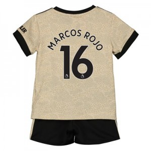 Manchester United Away Baby Kit 2019 - 20 with Marcos Rojo 16 printing