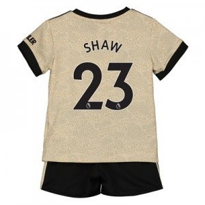 Manchester United Away Baby Kit 2019 - 20 with Shaw 23 printing