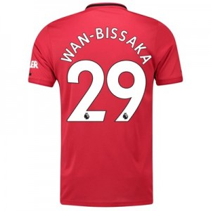 Manchester United Home Shirt 2019 - 20 with Wan-Bissaka 29 printing