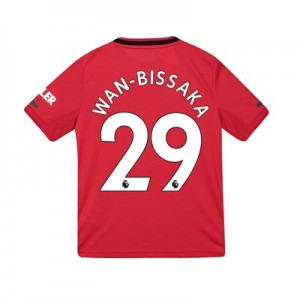 Manchester United Home Shirt 2019 - 20 - Kids with Wan-Bissaka 29 printing