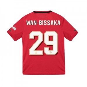 Manchester United Cup Home Shirt 2019 - 20 - Kids with Wan-Bissaka 29 printing