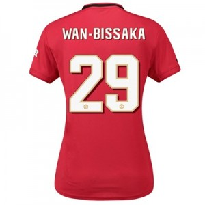 Manchester United Cup Home Shirt 2019 - 20 - Womens with Wan-Bissaka 29 printing