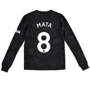 Manchester United Third Shirt 2019 - 20 - Kids - Long Sleeve with Mata 8 printing