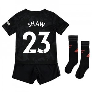 Manchester United Third Mini Kit 2019 - 20 with Shaw 23 printing