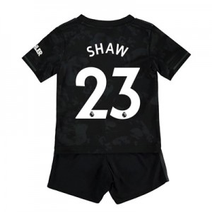 Manchester United Third Baby Kit 2019 - 20 with Shaw 23 printing
