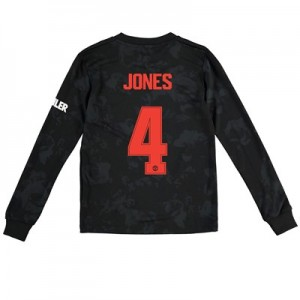 Manchester United Cup Third Shirt 2019 - 20 - Kids - Long Sleeve with Jones 4 printing