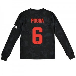 Manchester United Cup Third Shirt 2019 - 20 - Kids - Long Sleeve with Pogba 6 printing