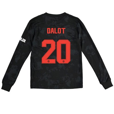 Manchester United Cup Third Shirt 2019 - 20 - Kids - Long Sleeve with Dalot 20 printing