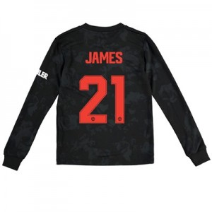 Manchester United Cup Third Shirt 2019 - 20 - Kids - Long Sleeve with James 21 printing