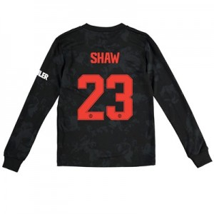 Manchester United Cup Third Shirt 2019 - 20 - Kids - Long Sleeve with Shaw 23 printing