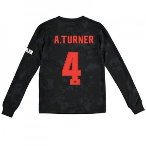 Manchester United Cup Third Shirt 2019 - 20 - Kids - Long Sleeve with A.Turner 4 printing