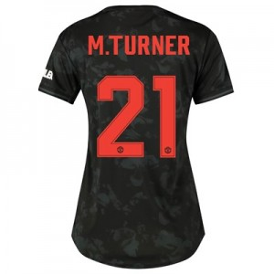 Manchester United Cup Third Shirt 2019 - 20 - Womens with M.Turner 21 printing