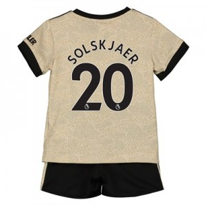 Manchester United Away Baby Kit 2019 - 20 with Solskjaer 20 printing