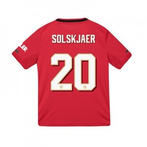 Manchester United Cup Home Shirt 2019 - 20 - Kids with Solskjaer 20 printing