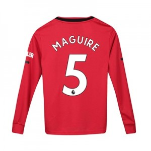 Manchester United Home Shirt 2019 - 20 - Kids - Long Sleeve with Maguire 5 printing