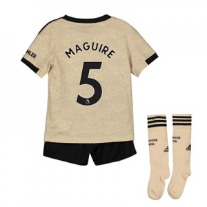 Manchester United Away Mini Kit 2019 - 20 with Maguire 5 printing